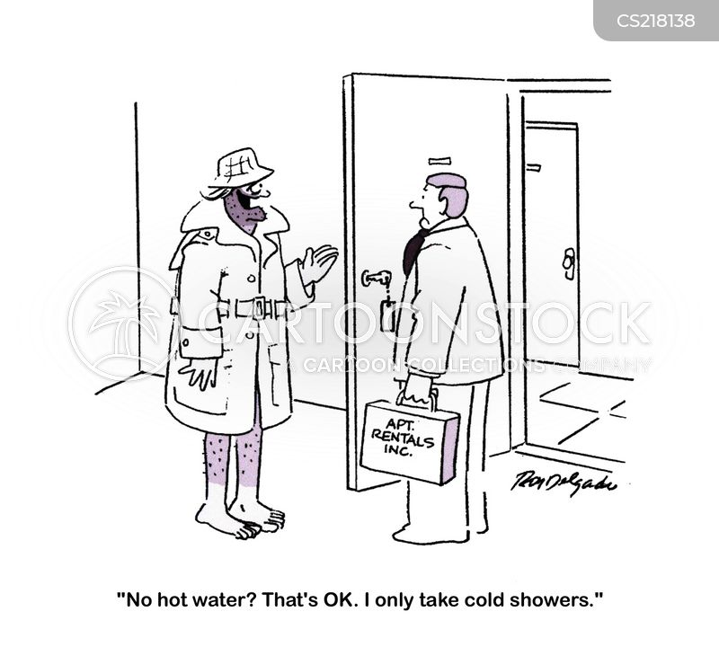 hot water cartoon
