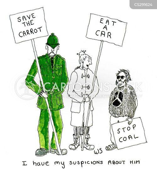 go green cartoon