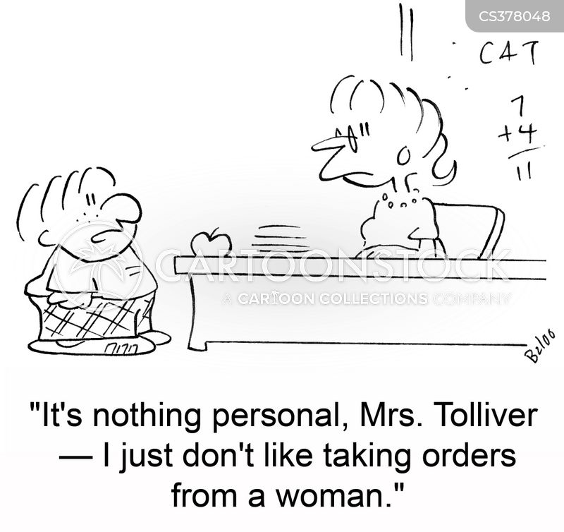 taking orders cartoon