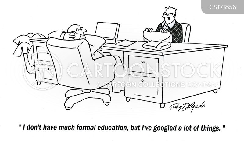 educated cartoon