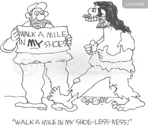 extreme poverty cartoon