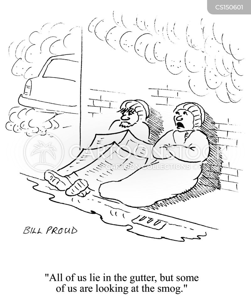 in the gutter cartoon