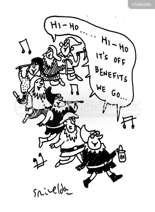 employment benefits cartoon