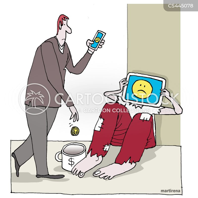 internet addiction cartoon