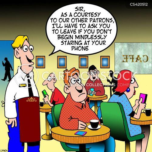 cell etiquette cartoon
