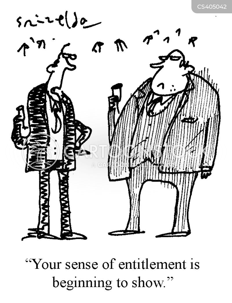 sense of entitlement cartoon