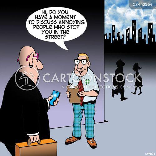 street fundraising cartoon