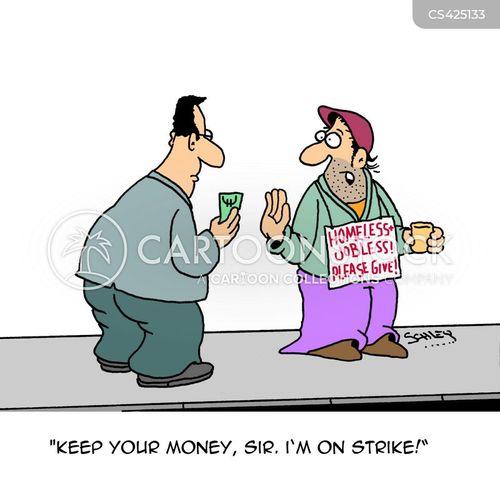 wage disputes cartoon