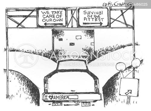 social system cartoon