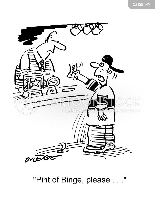 binge drinkers cartoon