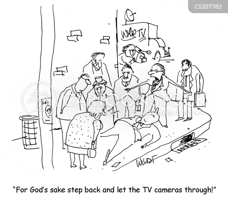 tv cameras cartoon