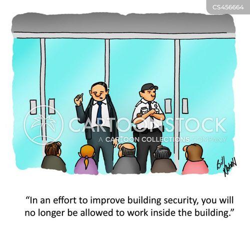 building security cartoon