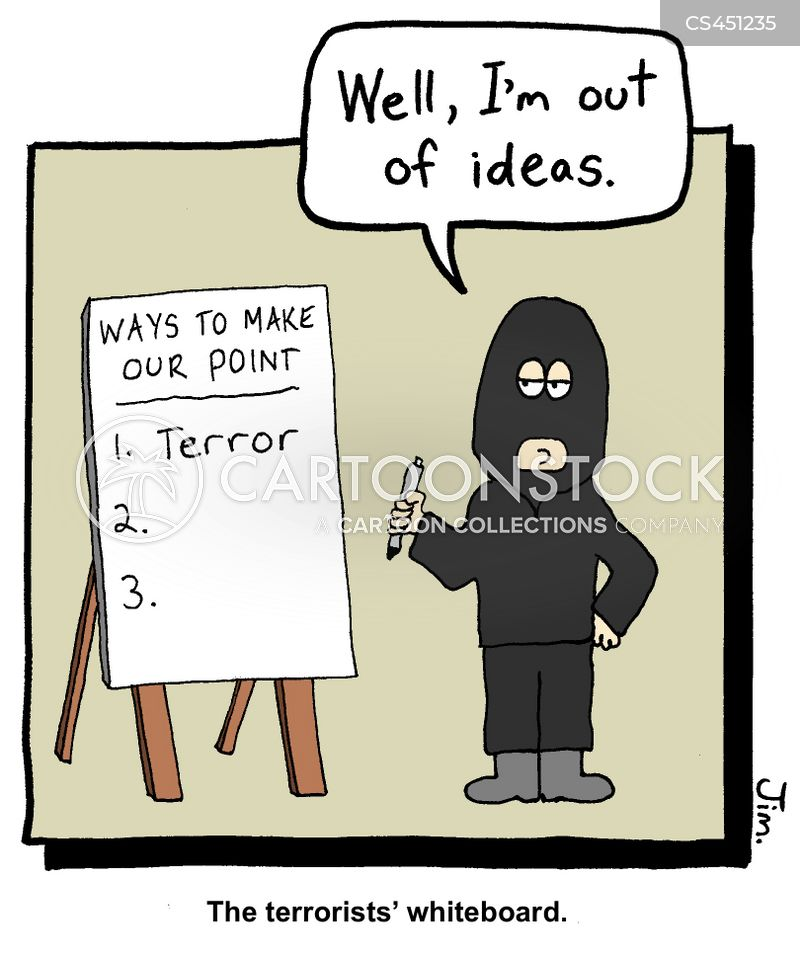 terror threat cartoon