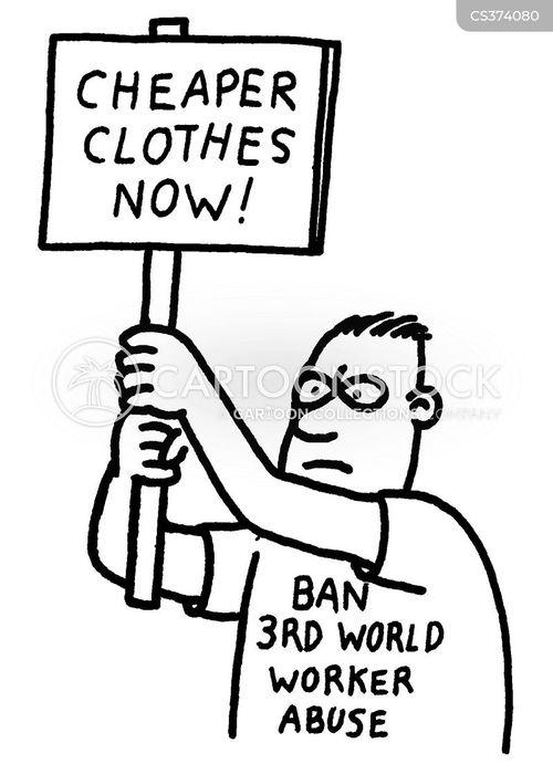 sweat shops cartoon
