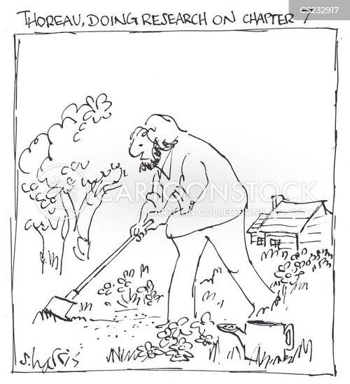 henry david thoreau cartoon