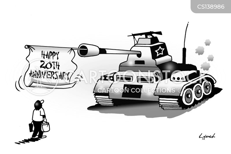 tianamen square anniversary cartoon