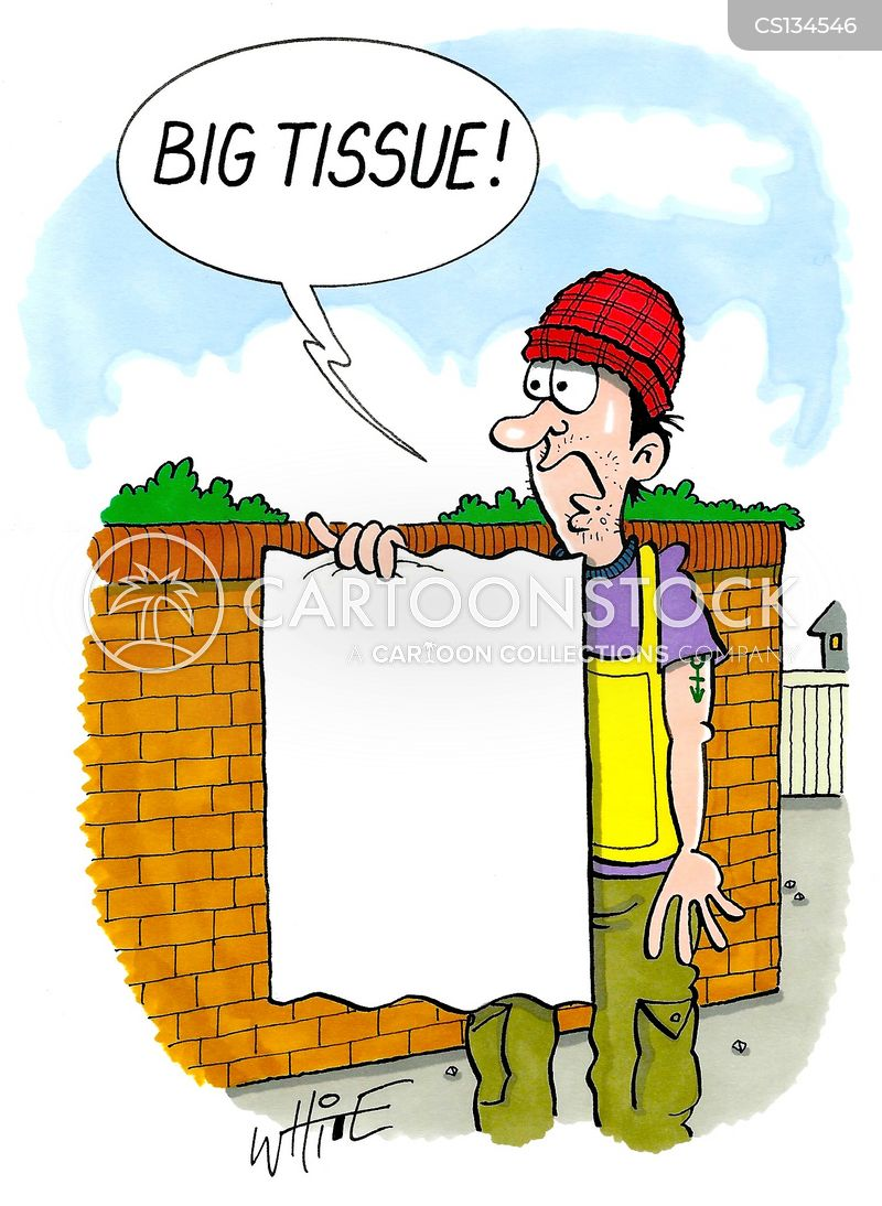 big issue sellers cartoon