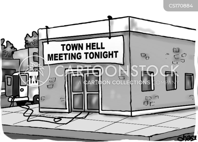town meetings cartoon