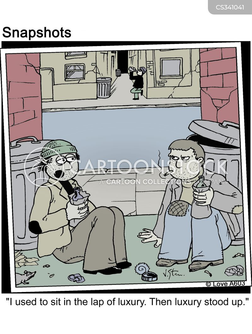 lap of luxury cartoon