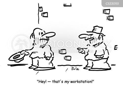 workstation cartoon