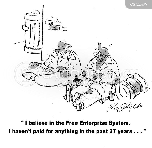 free enterprise cartoon