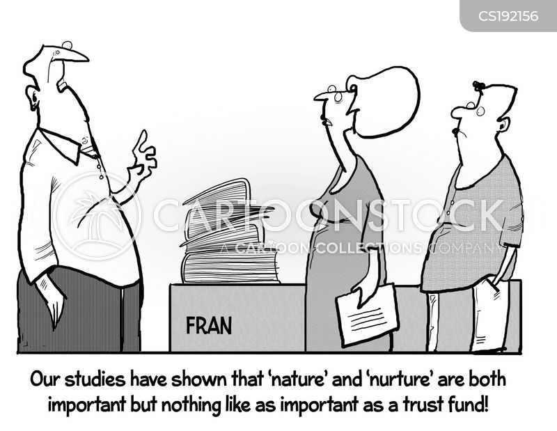 nurture versus nature cartoon