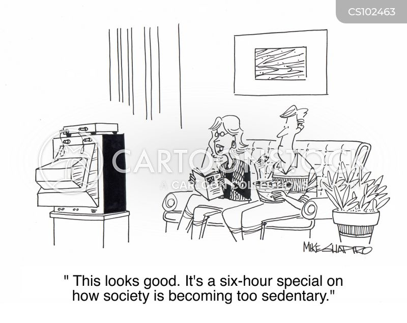 sedentary cartoon