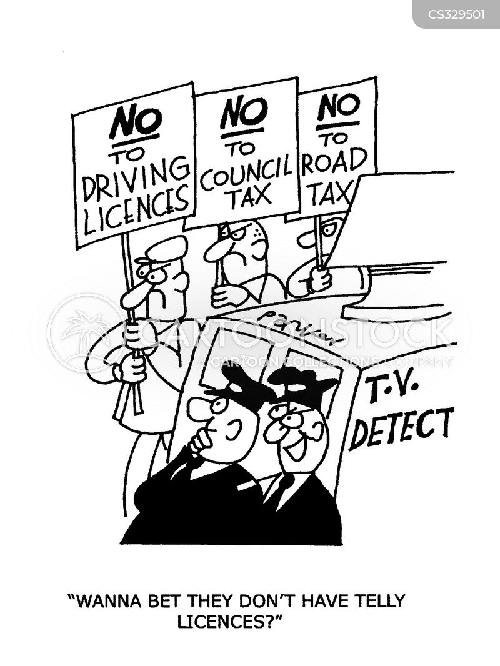 road tax cartoon