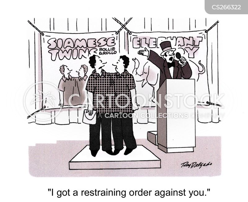 restrain cartoon