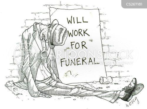 funeral costs cartoon