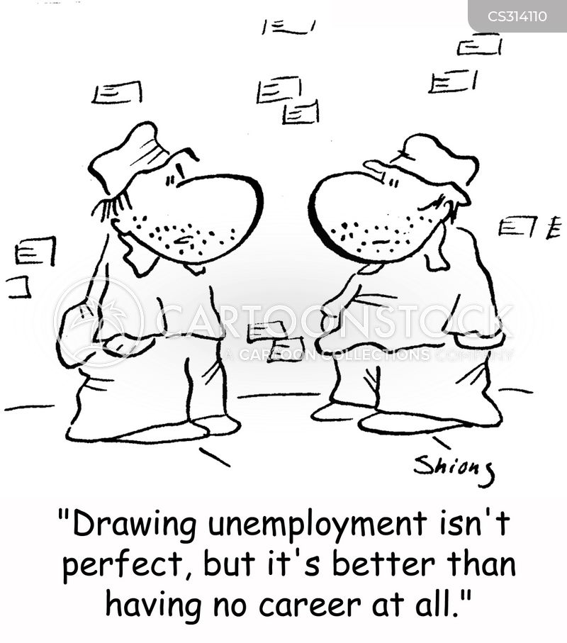 drawing unemployment cartoon