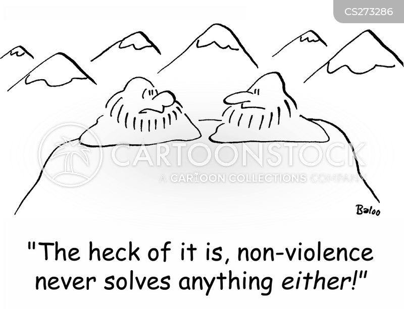 violence never solves anything cartoon
