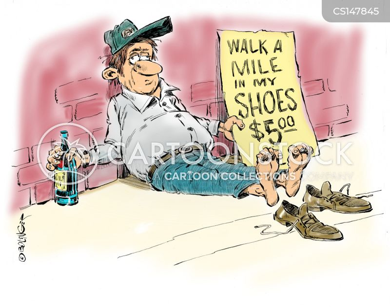 walk a mile in my shoes cartoon