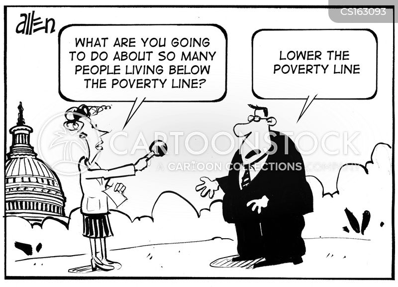 poverty lines cartoon