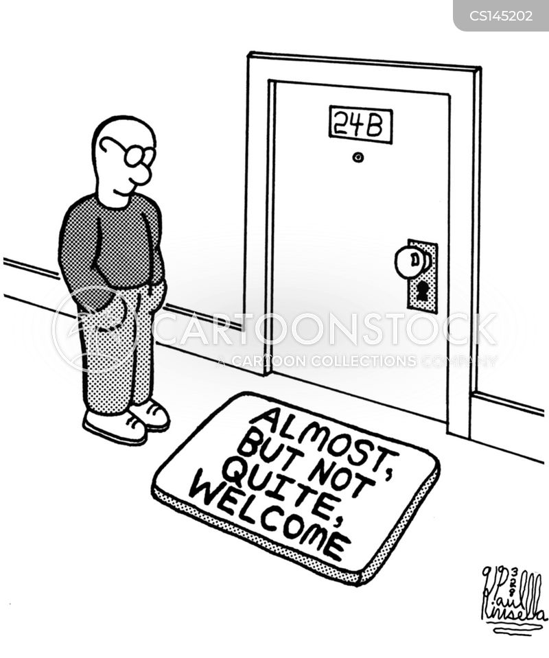 welcome mats cartoon