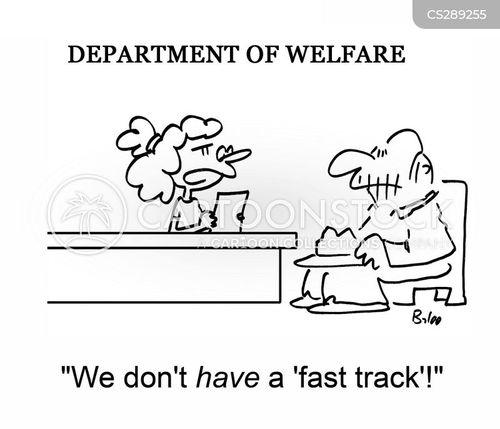 welfare department cartoon