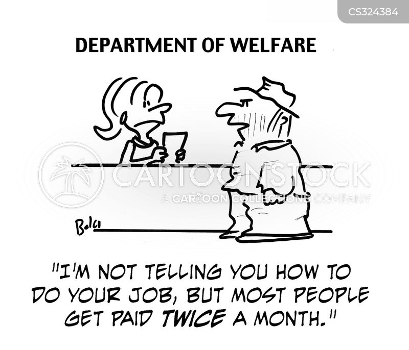 welfare departments cartoon