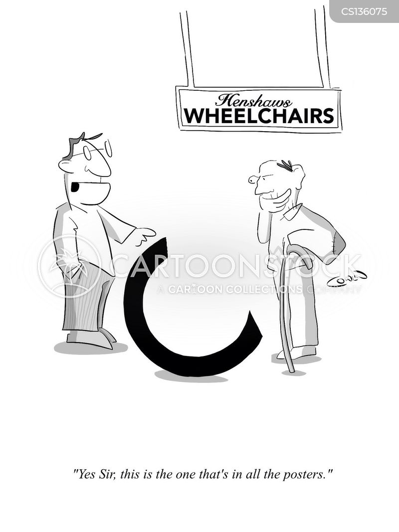 wheelchair store cartoon