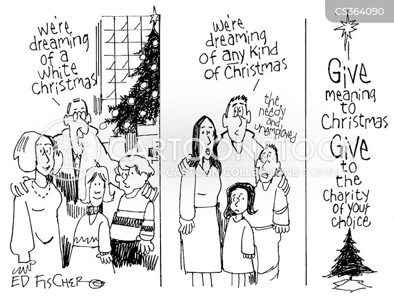 White Christmas Cartoons and Comics - funny pictures from CartoonStock
