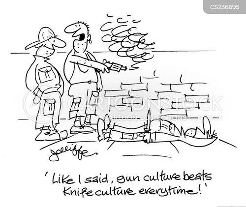 gang warfare cartoon