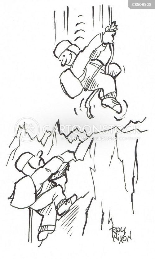 abseiler cartoon