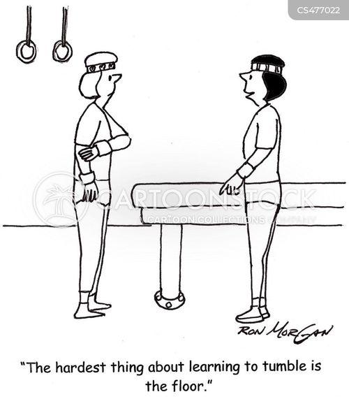 exercise lesson cartoon