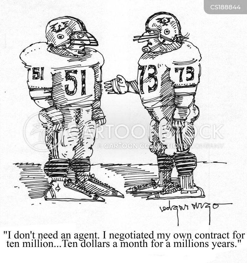 american football player cartoon 4 of 25