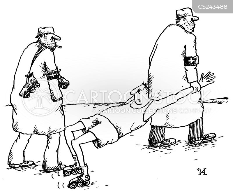 rollerskating cartoon
