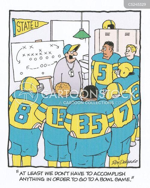 american football game cartoon