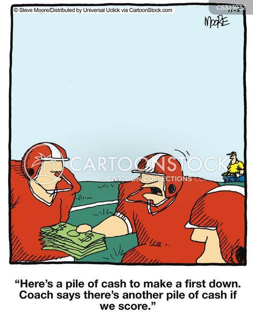 american football players cartoon