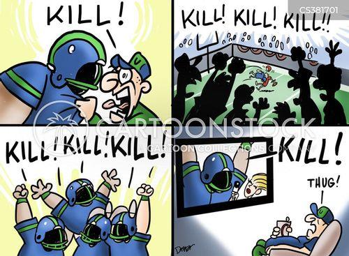 violent sports cartoon