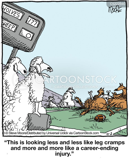 leg cramp cartoon