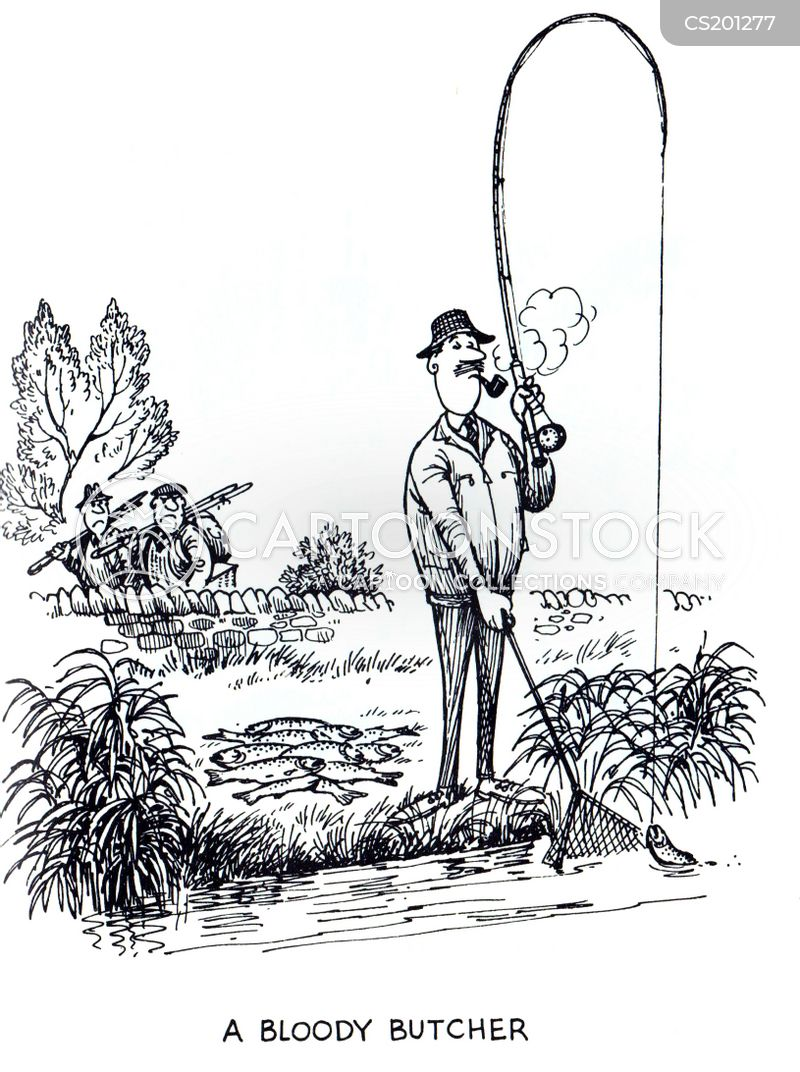 fishing accident cartoon