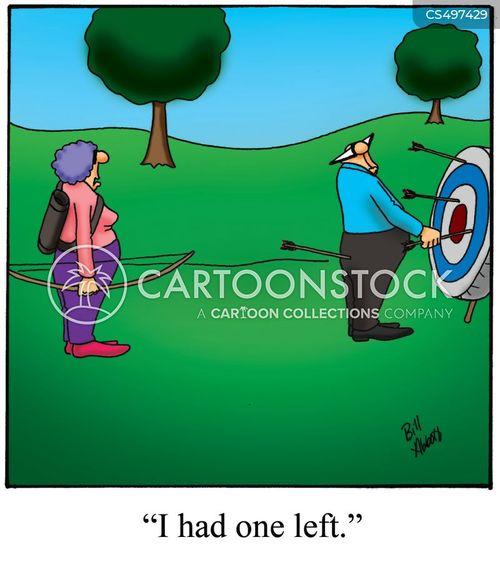 archery targets cartoon